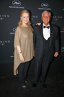 Ullmann (L) et Michael Kutza en photocall avant la soiréee Kering Women In Motion Awards lors du soixante-dixième (70ème) Festival du Film à Cannes, Place de la Castre, Cannes, Sud de la France, dimanche 21 mai 2017. Philippe FARJON / VISUAL Press Agency