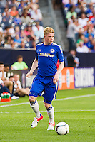 Kevin De Bruyne (14) of Chelsea FC. Chelsea FC and Paris Saint-Germain played to a 1-1 tie during a 2012 Herbalife World Football Challenge match at Yankee Stadium in New York, NY, on July 22, 2012.