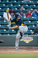 Jake Rogers (2) of the Buies Creek Astros at bat against the Winston-Salem Dash at BB&T Ballpark on June 23, 2017 in Winston-Salem, North Carolina.  The Astros defeated the Dash 3-0.  (Brian Westerholt/Four Seam Images)