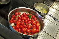 In the kitchen of restaurant Mirazur, Menton, France, 18 September 2013