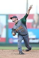 Tyler Ihrig #17 of the Boise Hawks pitches against the Everett AquaSox at Everett Memorial Stadium on July 25, 2014 in Everett, Washington. Everett defeated Boise, 2-1. (Larry Goren/Four Seam Images)