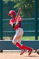 Aaron Altherr of the Gulf Coast League Phillies during the game at the ESPN Wide World of Sports Complex in Orlando, Florida July 10 2010. Photo By Scott Jontes/Four Seam Images
