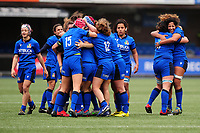 Italy celebrate at full time during the Women's six nations championship match between the Wales and Italy at Cardiff Arms Park in Cardiff, Wales, UK. Sunday 02 February 2020