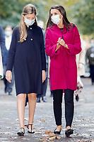 OVIEDO, SPAIN- October 15: **NO SPAIN** King Felipe VI of Spain, Queen Letizia of Spain, Crown Princess Leonor, Princess Sofia visits LA FPABRICA, La Vega Weapon Factory during Princess of Asturias Awards 2020 on October 15, 2020 in Oviedo, Spain. <br /> CAP/MPI/RJO<br /> ©RJO/MPI/Capital Pictures
