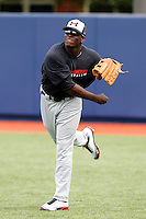 Outfielder Anthony Alford #21 during practice for the Under Armour All-American Game presented by Baseball Factory at Les Miller Field on August 12, 2011 in Chicago, Illinois.  (Mike Janes/Four Seam Images)