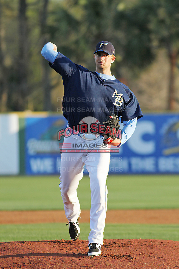 Myrtle Beach Pelicans pitcher Phil Klein #21 during practice at Ticketreturn.com Field at Pelicans Park on April 2, 2012 in Myrtle Beach, South Carolina. Robert Gurganus/Four Seam Images)