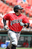 Indianapolis Indians outfielder Jake Fox #52 during a game against the Buffalo Bisons at Coca-Cola Field on May 22, 2012 in Buffalo, New York.  Indianapolis defeated Buffalo 6-3.  (Mike Janes/Four Seam Images)