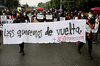 BOGOTA, COLOMBIA - MAY 28: People take part in a protest asking about missing people during a national strike on May 28, 2021 in Bogota, Colombia. (Photo by Leonardo Munoz/VIEWpress)