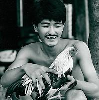 Mann mit Hahn, Saigon