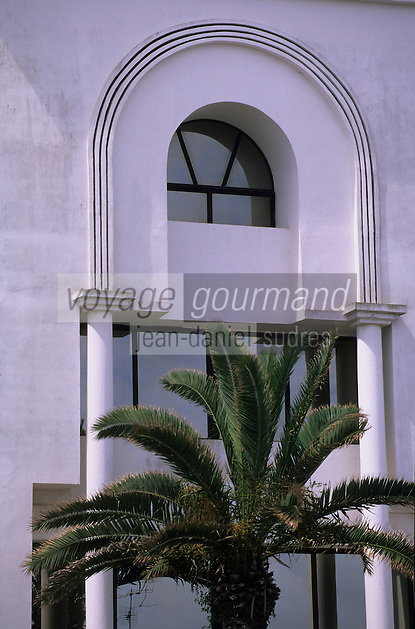 Afrique/Maghreb/Maroc/El-Jadida : Détail architecture sur le front de mer