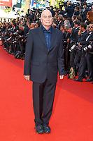Barbert SCHROEDER sur le tapis rouge pour la soirée dans le cadre de la journée anniversaire de la 70e édition du Festival du Film à Cannes, Palais des Festivals et des Congres, Cannes, Sud de la France, mardi 23 mai 2017.