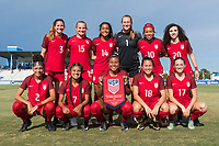 Bradenton, FL - Sunday, June 12, 2018: USA Starting XI prior to a U-17 Women's Championship Finals match between USA and Mexico at IMG Academy.  USA defeated Mexico 3-2 to win the championship.