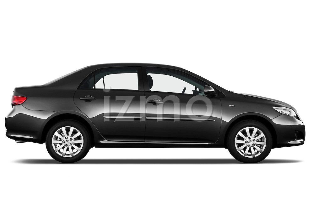 Passenger side profile view of a 2010 Toyota Corolla Linea Sol 4 Door Sedan.