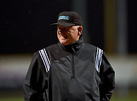 Umpire before a Riverview Rams game against the Sarasota Sailors on February 19, 2021 at Rams Baseball Complex in Sarasota, Florida. (Mike Janes/Four Seam Images)