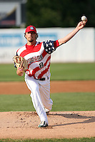 July 3, 2007: James Heuser of the Kane County Cougars at Elfstrom Stadium in Geneva, IL  Photo by:  Chris Proctor/Four Seam Images