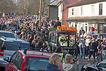 The  funeral of Prodigy singer Keith Flint at St Marys Church in Bocking,  Essex today.