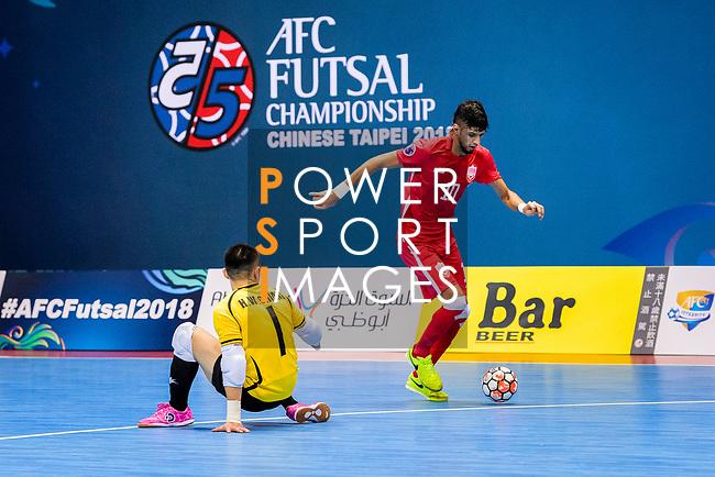 AFC Futsal Championship Chinese Taipei 2018 match between Chinese Taipei and Bahrain at  Xinzhuang Gymnasium on 01 February 2018 in Taipei, Taiwan. Photo by Marcio Rodrigo Machado / Power Sport Images