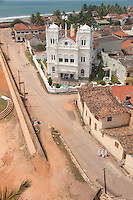 Galle Fortress and Mosque as seen from Lighthouse tower -Southern Sri Lanka