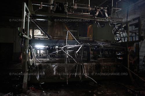 Scranton, Pennsylvania.August 3, 2012..Former Scranton Lace Works factory...Photograph by Alan Chin.