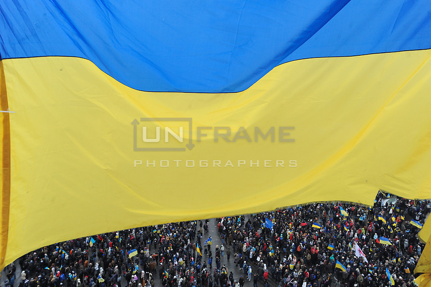 """The """"march of the million"""" - the name of the protest took place on Sunday 8th of December on the Independence square in Kiev, Ukraine against current Ukrainian government and president Yanukovich. On this day people completely occupied """"government"""" district in Kiev."""