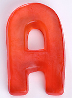 Red Gummi Letter