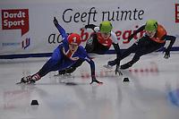 SHORTTRACK: DORDRECHT: Sportboulevard Dordrecht, 24-01-2015, ISU EK Shorttrack, Elise CHRISTIE (GBR | #1), Patrycja MALISZEWSKA (POL | 143), ©foto Martin de Jong