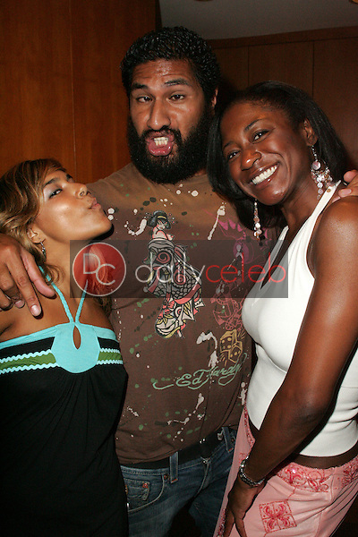 """Maurise Maclou with Sala Baker and guest<br />at a birthday party for E.G. Daily, Lindsey Labrum and Yvette Lopez, benefitting """"Last Chance for Animals"""". Private Location, Los Angeles, CA 09-02-06<br />Dave Edwards/DailyCeleb.com 818-249-4998"""