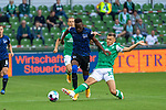 19.09.2020, wohninvest Weserstadion, Bremen, GER,  SV Werder Bremen vs Hertha BSC Berlin, <br /> <br /> <br />  im Bild<br /> <br /> Mathew Leckie (Hertha BSC #11)Maximilian Eggestein (Werder Bremen #35)<br /> <br /> Foto © nordphoto / Kokenge<br /> <br /> DFL regulations prohibit any use of photographs as image sequences and/or quasi-video.