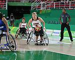 Janet McLachlan, Rio 2016 - Wheelchair Basketball // Basketball en fauteuil roulant.<br /> The Canadian women's wheelchair basketball team competes against Argentina in the preliminaries // L'équipe canadienne féminine de basketball en fauteuil roulant affronte l'Argentine dans la ronde préliminaire. 10/09/2016.