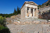 Treasury of the Athenians (5th cent. B.C.) in Delphi, Greece