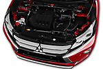 Car stock 2018 Mitsubishi Eclipse Cross Style 5 Door SUV engine high angle detail view