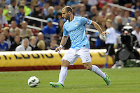 Pablo Zabaleta (5) Manchester City in action..Manchester City defeated Chelsea 4-3 in an international friendly at Busch Stadium, St Louis, Missouri.