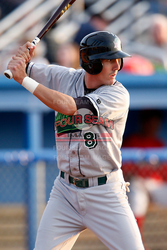 July 24, 2009:  Third Baseman Chase Austin of the Jamestown Jammers during a game at Dwyer Stadium in Batavia, NY.  The Jammers are the NY-Penn League Short-Season Single-A affiliate of the Florida Marlins.  Photo By Mike Janes/Four Seam Images