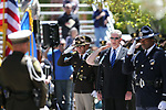 Shawn Mahan sings the National Anthem at the 21st annual Nevada State Law Enforcement Officers Memorial ceremony in Carson City, Nev., on Thursday, May 3, 2018. <br />Photo by Cathleen Allison/Nevada Momentum