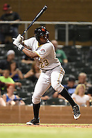 Scottsdale Scorpions infielder Josh Bell (23) during an Arizona Fall League game against the Salt River Rafters on October 7, 2014 at Salt River Fields at Talking Stick in Scottsdale, Arizona.  Scottsdale defeated Salt River 7-4.  (Mike Janes/Four Seam Images)