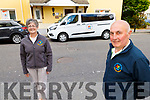 Breda Dyland and John Fleming with their new bus for the Kerry Cork Cancer Support Group.