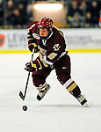 9 January 2009: Boston College Eagles' forward Barry Almeida, a Freshman from Springfield, MA, in action during the first game of a weekend series against the University of Vermont Catamounts at Gutterson Fieldhouse in Burlington, Vermont. The Catamounts scored with one second remaining in regulation time to earn a 3-3 tie with the visiting Eagles. Mandatory Photo Credit: Ed Wolfstein Photo