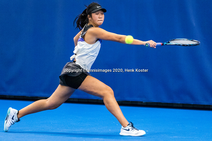 Amstelveen, Netherlands, 14  December, 2020, National Tennis Center, NTC, NK Indoor, National  Indoor Tennis Championships, Qualifying: Demi Tran (NED)  <br /> Photo: Henk Koster/tennisimages.com