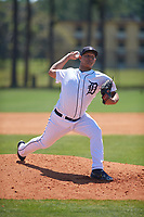 Detroit Tigers Jose Vasquez (78) during a Minor League Spring Training game against the Toronto Blue Jays on March 22, 2019 at the TigerTown Complex in Lakeland, Florida.  (Mike Janes/Four Seam Images)