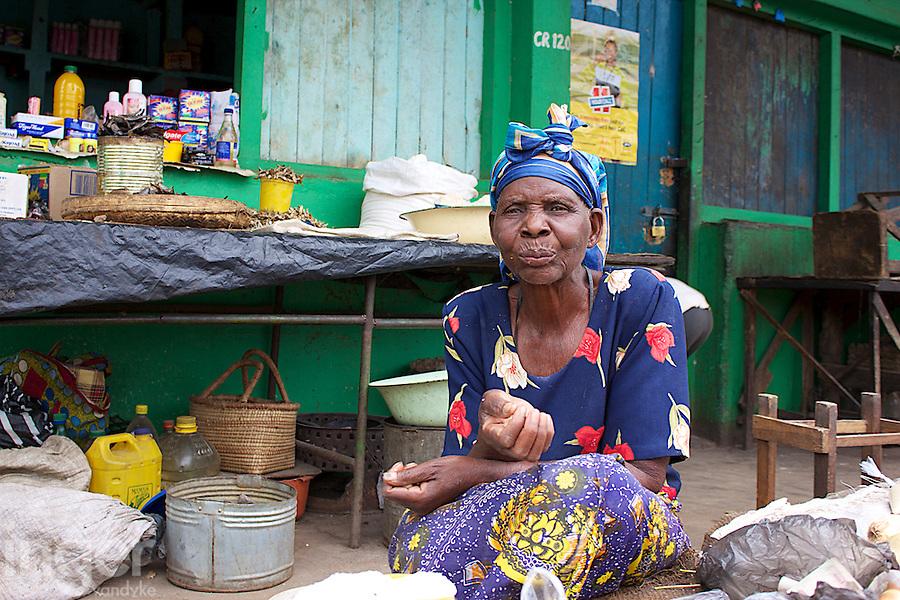 Old Woman in Dambwa Central Market, Livingstone,  Zambia