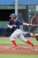 GCL Red Sox third baseman Rafael Oliveras (2) at bat during a game against the GCL Rays on June 24, 2014 at Charlotte Sports Park in Port Charlotte, Florida.  GCL Red Sox defeated the GCL Rays 5-3.  (Mike Janes/Four Seam Images)