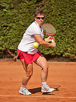 Netherlands, Amstelveen, August 22, 2015, Tennis,  National Veteran Championships, NVK, TV de Kegel,  Lady's  55+, Annelies Simons<br /> Photo: Tennisimages/Henk Koster