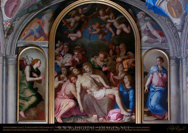Lamentation Bronzino Chapel of Eleonora Apartment of the Elements Palazzo Vecchio Florence