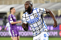 Romelu Lukaku of FC Internazionale celebrates after scoring the goal of 1-2 during the Italy Cup round of 16 football match between ACF Fiorentina and FC Internazionale at Artemio Franchi stadium in Firenze (Italy), January 13th, 2021. Photo Andrea Staccioli / Insidefoto