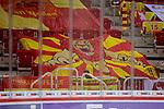Banner der DEG-Fans mit Loewen<br /> im Spiel der Duesseldorfer EG gegen die Eisbaeren Berlinin der Penny DEL.<br /> <br /> Foto © PIX-Sportfotos *** Foto ist honorarpflichtig! *** Auf Anfrage in hoeherer Qualitaet/Aufloesung. Belegexemplar erbeten. Veroeffentlichung ausschliesslich fuer journalistisch-publizistische Zwecke. For editorial use only.