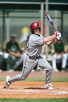 February 22, 2009:  Outfielder Brian Lambert (10) of Indiana University during the Big East-Big Ten Challenge at Naimoli Complex in St. Petersburg, FL.  Photo by:  Mike Janes/Four Seam Images