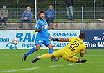 Yakup Polat (Nr.20, FC Astoria Walldorf) mit der Chance  beim Spiel in der Regionalliga, FC Astoria Walldorf - Eintracht Stadtallendorf.<br /> <br /> Foto © PIX-Sportfotos *** Foto ist honorarpflichtig! *** Auf Anfrage in hoeherer Qualitaet/Aufloesung. Belegexemplar erbeten. Veroeffentlichung ausschliesslich fuer journalistisch-publizistische Zwecke. For editorial use only. DFL regulations prohibit any use of photographs as image sequences and/or quasi-video.