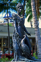 This statue of Princess Kaiulani (1875-1899) stands near the site of her home, Ainahau, now the site of the  Princess Kaiulani Hotel