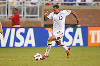 7 June 2011: USA Men's National Team midfielder Jermaine Jones (13) dribbles the ball during the CONCACAF soccer match between USA and Canada at Ford Field Detroit, Michigan. USA won 2-0.