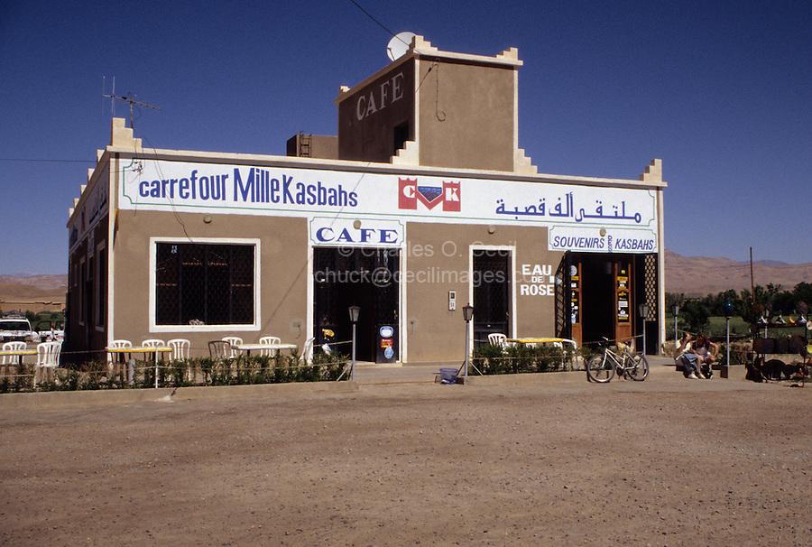 Between Skoura and Tineghir, Morocco - Roadside Rest Stop.